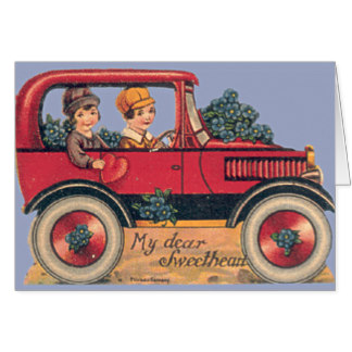 Greetings Valentine S Day 14754 Couple In Antique Car Car Pictures