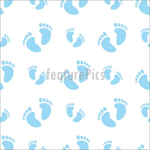 Illustration Of Vector Illustration Of A Seamless Baby Feet Pattern In
