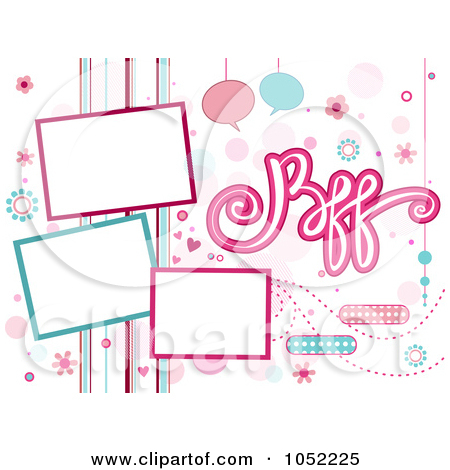 Royalty Free Vector Clip Art Illustration Of A Bff Background With