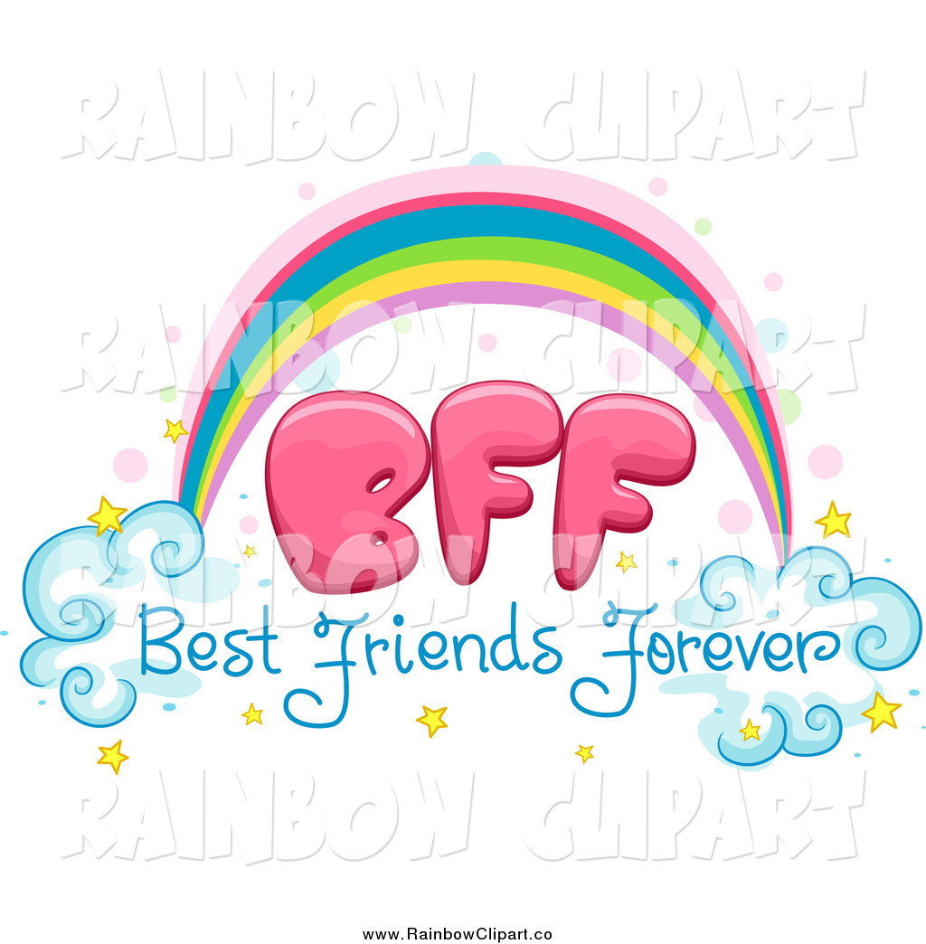 Vector Clip Art Of A Best Friends Forever Bff Rainbow By Bnp Design