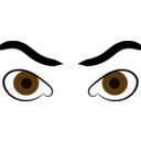 Angry Eyes Clip Art