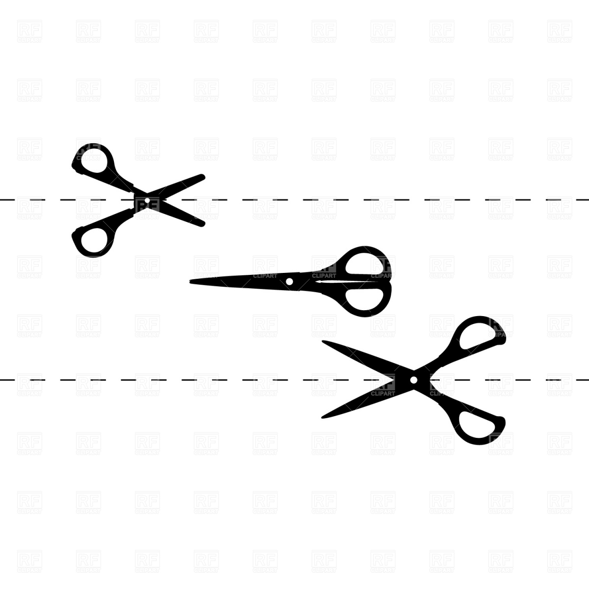 Clip Art Scissors Dotted Line Clipart - Clipart Kid