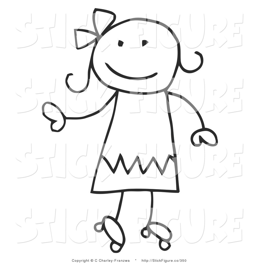 Girl Stick Figure Running   Clipart Panda   Free Clipart Images