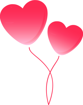 Heart Balloons Pricing Free Tags Heart Usage To Insert Two Pink Heart
