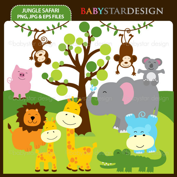 Jungle Safari Clip Art