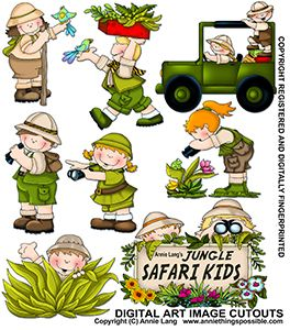 Jungle Safari Kids Cutouts