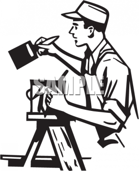 Painter Clipart 0511 1006 0818 0769 House Painter On A Ladder Clipart