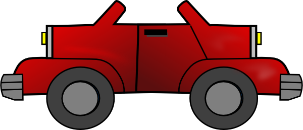 Two Way Red Jeep Clip Art At Clker Com   Vector Clip Art Online