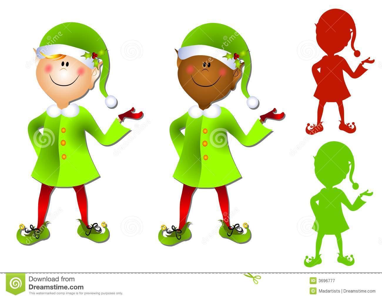Animated Christmas Elves Clipart - Clipart Kid