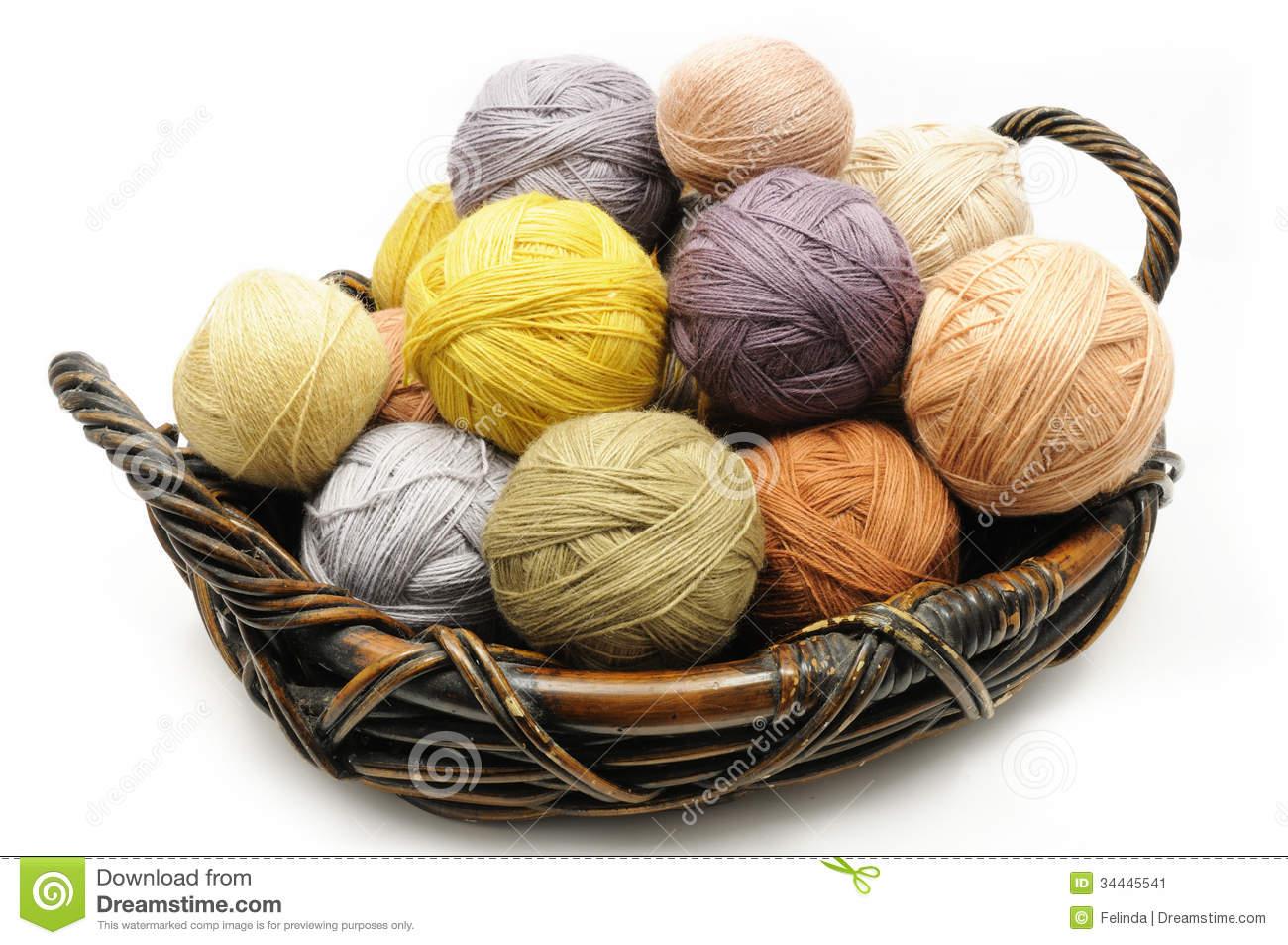 Basket of Yarn Clip Art – Cliparts