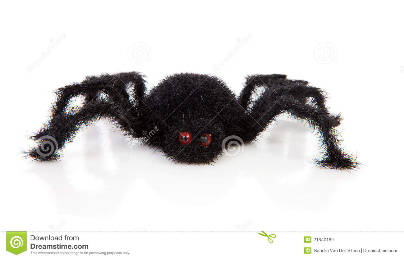 Black Scary Hairy Toy Spider Royalty Free Stock Images   Image