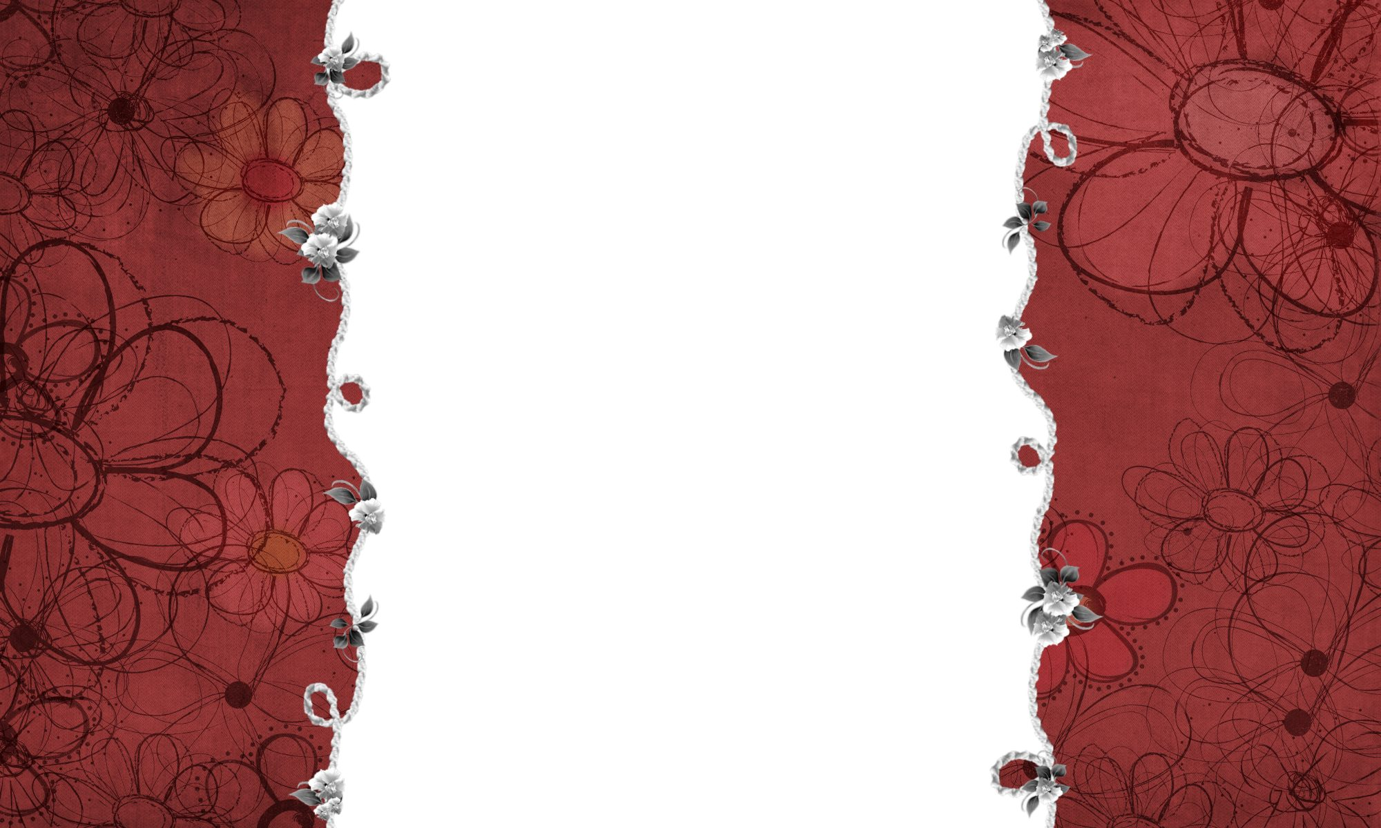 Burgundy Blooms Frame For Your Ppt Template Presentations  Burgundy