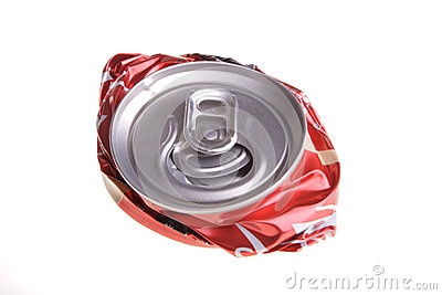 Crushed Drink Can Royalty Free Stock Photos   Image  25759278