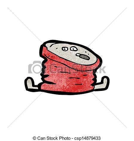 Crushed Soda Can Clip Art Vector   Crushed Cola Can