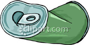 Crushed Soda Can   Royalty Free Clipart Picture