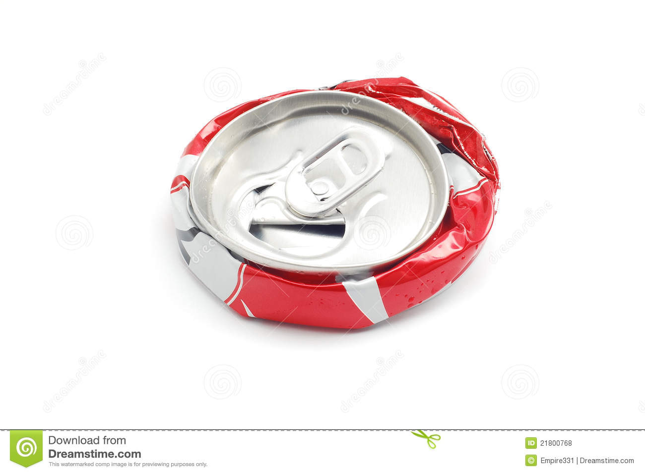 Crushed Soda Can Royalty Free Stock Photos   Image  21800768
