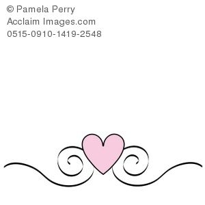 Fancy Heart Design   Fancy Lines Clip Art Pic  16
