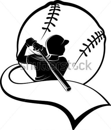 Girl Softball Batter With Pennant Stock Vector   Clipart Me