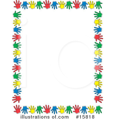 Hand Prints Clipart  15818 By Andy Nortnik   Royalty Free  Rf  Stock