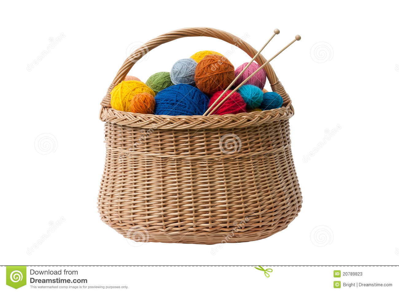 More Similar Stock Images Of   Basket With Yarn Balls