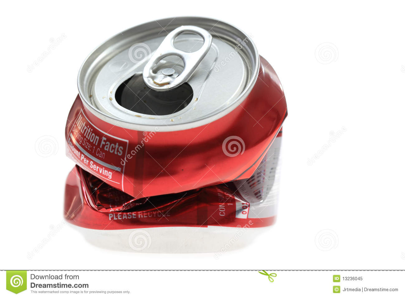 Photo Of A Red Soda Can Set Against A White Background