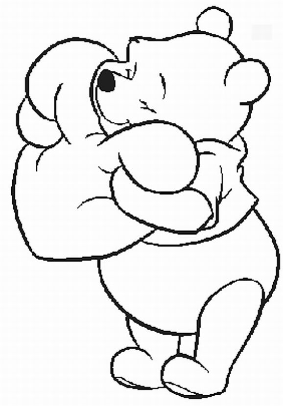 Pooh Valentine Coloring Pages Pooh Valentine Coloring Pages Jpg