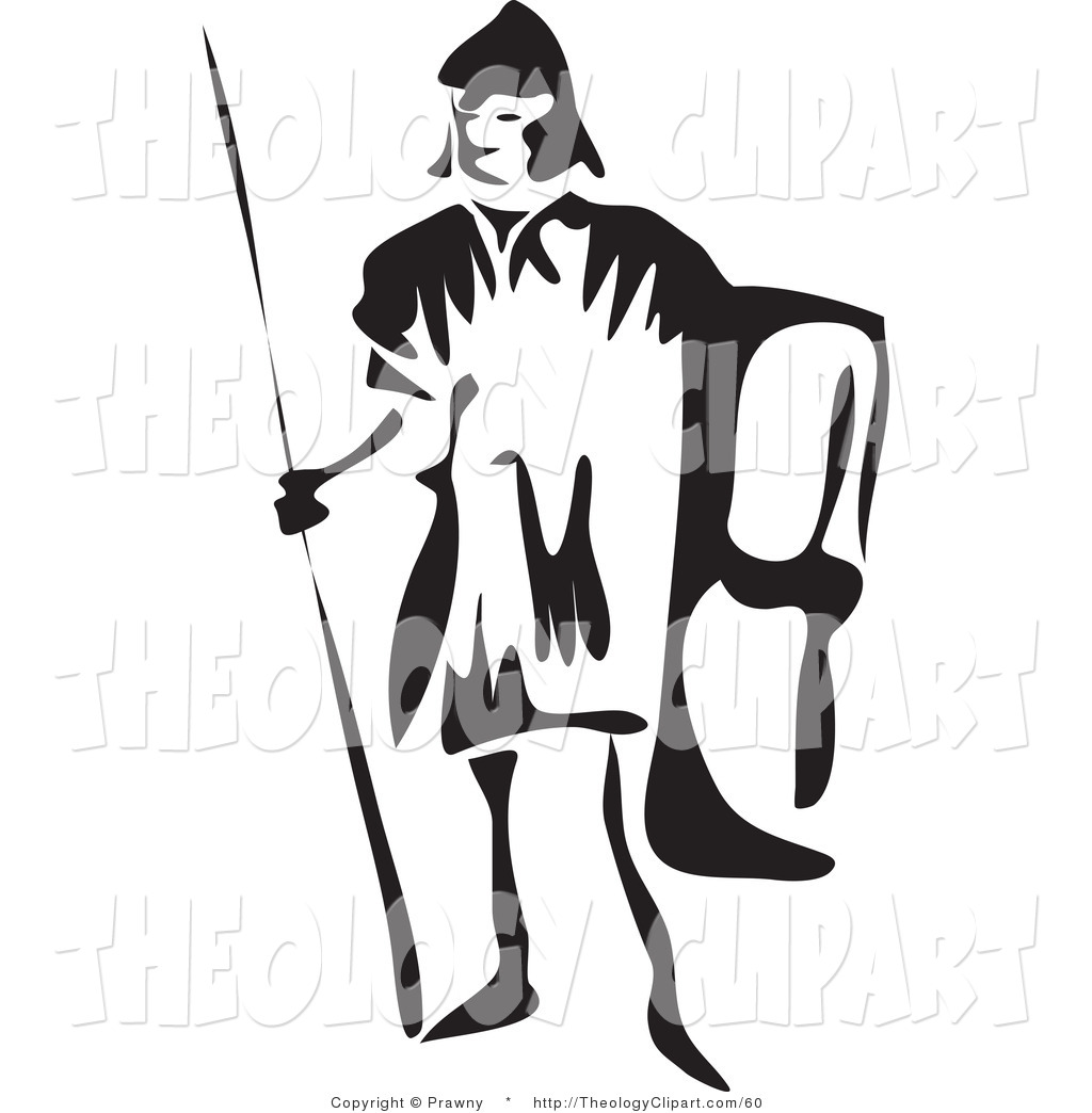 Roman Spear Clipart Clip Art Of A Black And White
