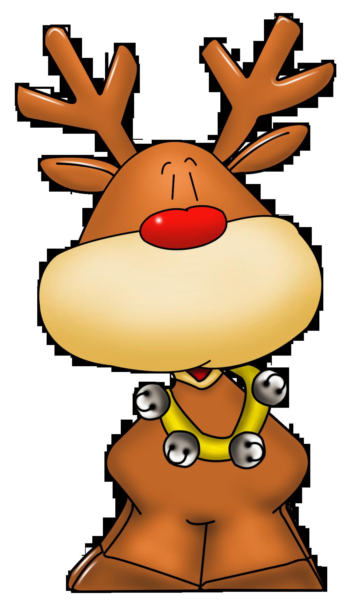 Cute Rudolph Reindeer Clipart - Clipart Suggest
