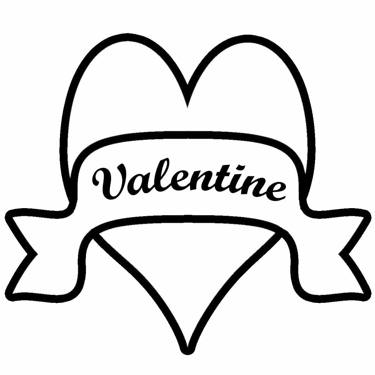 Valentine To Color Clipart - Clipart Kid
