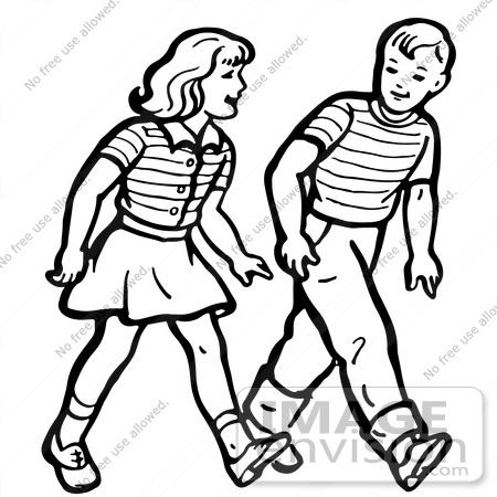 Friends Walking Clipart - Clipart Kid