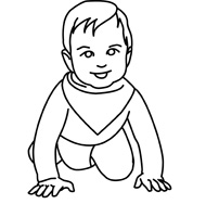 Black Baby Crawling Clipart - Clipart Kid