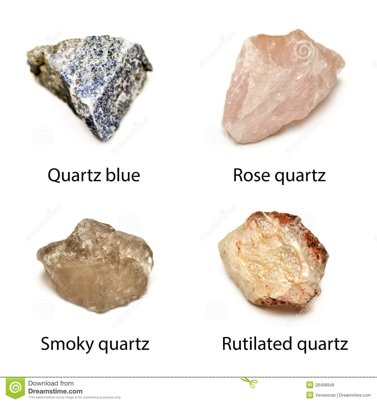 Background Quartz Blue Rose Quartz Smoky Quartz Rutilated Quartz
