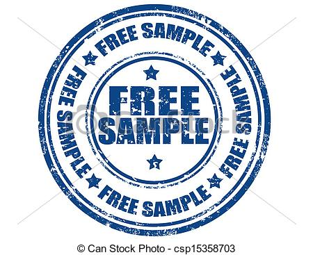 Clipart Of Free Sample   Grunge Rubber Stamp With Text Free Sample