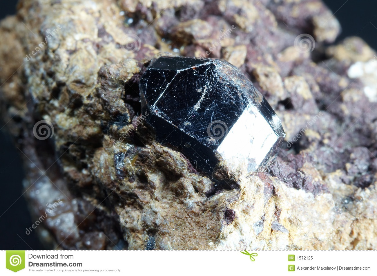 Crystal Of Rutile Royalty Free Stock Photo   Image  1572125