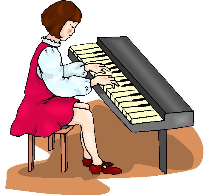 Cartoon keyboard player