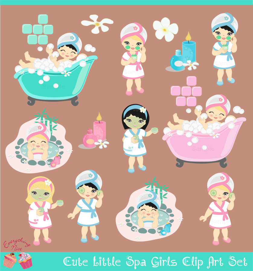 Girls Spa Clipart