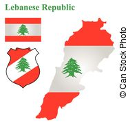 Lebanese Flag   Flag And National Coat Of Arms Of The