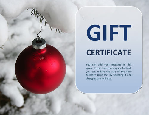 Doc585430 Christmas Gift Certificates Free Christmas Gift – Gift Voucher Template Word Free Download