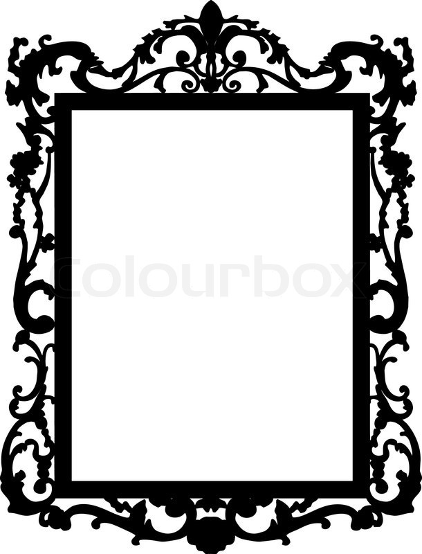 Wall Mirror Clipart Black And White mirror silhouettes clipart ...