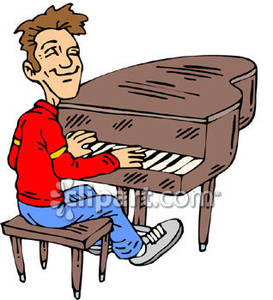 Playing Piano Clipart Boy Playing The Piano Royalty Free ...