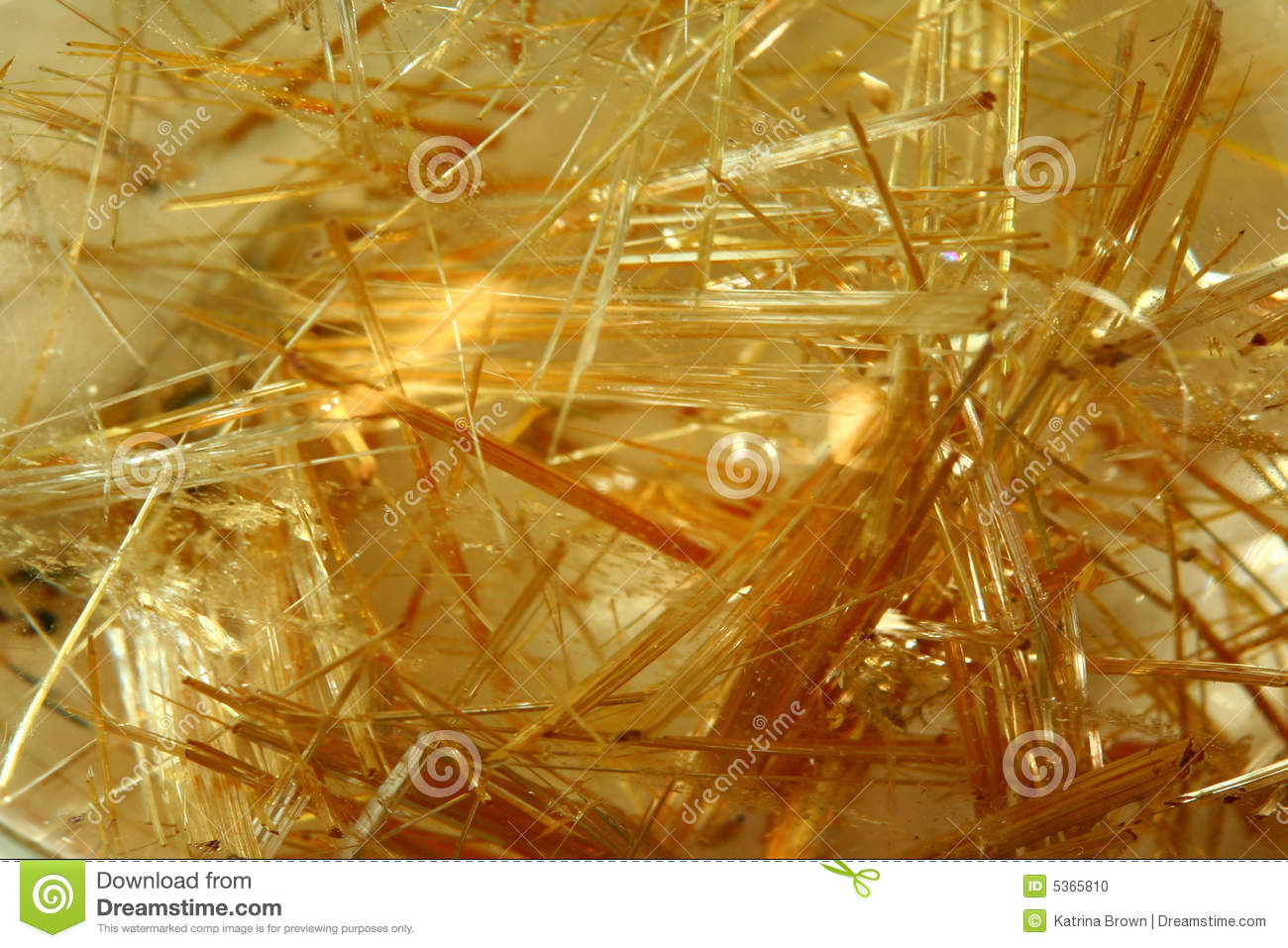 Rutilated Quartz Crystal Stock Photo   Image  5365810