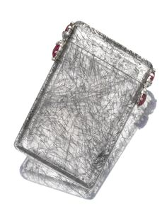 Rutilated Quartz Ruby And Diamond Cigarette Case Cartier Circa 1920