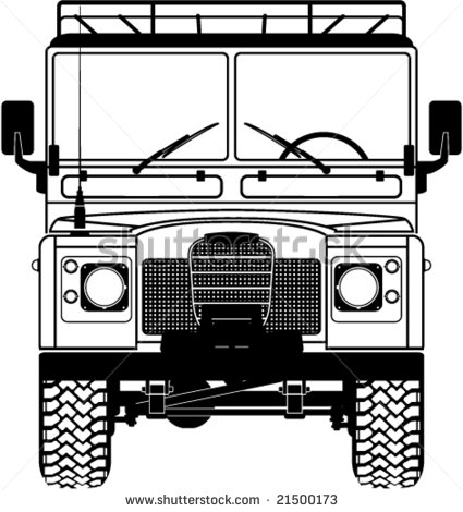 Safari Land Rover Front Of The Car  Vector   21500173   Shutterstock