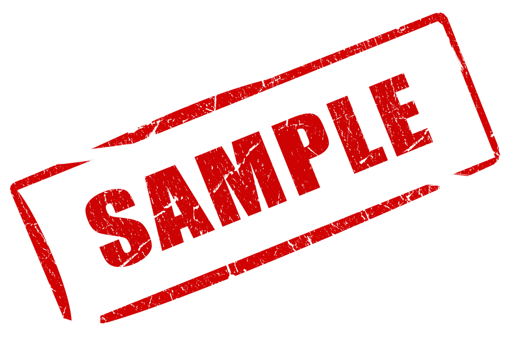 Sample Is A Fake Business That Was Created One Early Monday Morning To