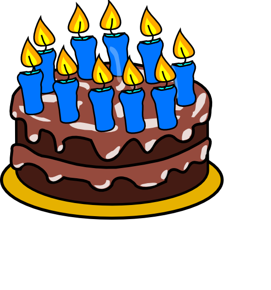10th Birthday Cake Clip Art At Clker Com   Vector Clip Art Online