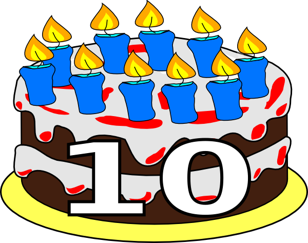 10th Birthday Cake Dom Clip Art At Clker Com   Vector Clip Art Online