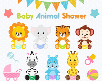 Clip Art Baby Animals Clipart jungle baby shower clipart kid animal animals clipart