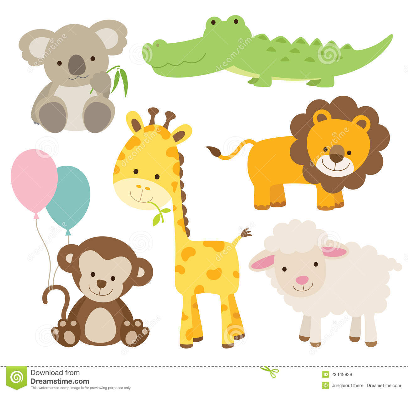 Jungle Baby Shower Clipart - Clipart Kid