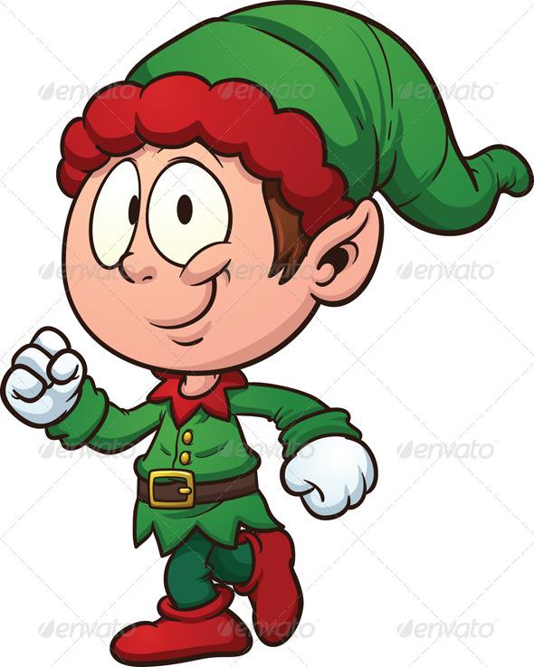 Cartoon Elf Clipart - Clipart Kid