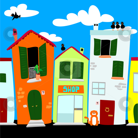 Old City Street Clipart - Clipart Suggest